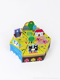 Paper Island // paper toy + favor box free templates / created by Crowded Teeth for Mr Printables