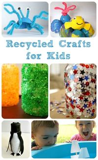 Creative ideas for making recycled crafts with kids