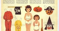 Betsy McCall's Halloween - I used to love to play with the paperdolls that came in the back of my mom's magazines, back in the 50's and 60's.