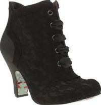Irregular Choice Black Matucana Sweet Pea Say goodbye to boring shoes and hello to the Matucana Sweet Pea Glitter from Irregular Choice. These beautiful black glittery booties feature a man-made upper, adorned in delicate lace overlay for sub http://www.c...