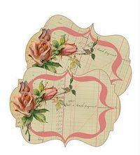 free printables, this rose card is under Friday Freebie, Day of the Week Journal Cards, and you will see lots of printables from bingo cards to vintage labels