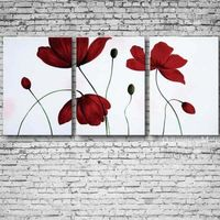 Pretty Flowers Oil Painting Set of Three Hand Painted