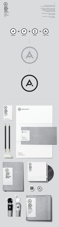 PERSONAL IDENTETY DESIGN by ANDREJA POPOVI�†, via Behance