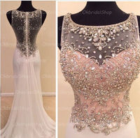 See through mermaid prom dresses, sexy prom dress, unique prom dress, dresses for prom, beautiful prom dress
