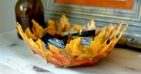 Craft store leaf garland, Mod Podge (matte finish), Foam Brush, Balloon, Scissors, Mixing bowl - Use your bowl to hold potpourri or little wrapped halloween candies. We love easy ways to liven up your home decor and this colorful DIY does the job ...