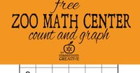 Perfect for summer and early preschool, kindergarten, and review for first grade! Free kindergarten math center-zoo animal count and graph copy