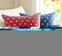 For the formal living area. Polka Dot Pillow Cover | Pottery Barn