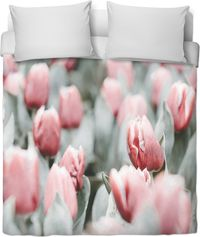 Grey Pink Tulips Duvet Cover $120.00