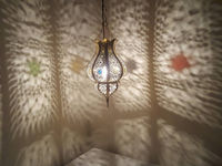 Moroccan Spherical lamp Ceiling Lighting Lamp Hanging Decor Designer Wall Lamp Shade hurricane lamps Handmade Copper $120.00