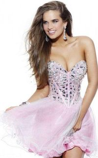 On Sale 2015 Sequins Top Pink Cocktail Homecoming Dresses