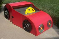 "How to Make a Car From a Cardboard Box. Many parents tell stories of how after going through elaborate efforts to get their child a ""special"" toy, the child spe"