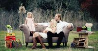 Outdoor Family Photography in Pleasanton, CA - On to Baby LOVE the set up (props), great family portrait!