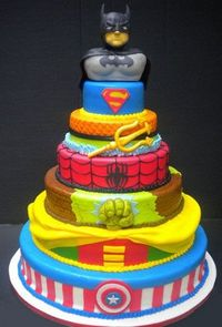 Awesome Superheros all in one cake!