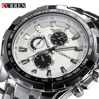 Luxury full stainless steel Watch Men Business Casual quartz waterproof Relogio R299.75