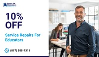 Applied Air Mechanical is providing 10% off on service or repair for Educators.Contact us at 817-888-7311 to grab the deal.