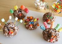 Rice Krispy Turkeys - activity for the littles