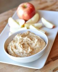 toffee apple dip - never seen this recipe with brown sugar in it before