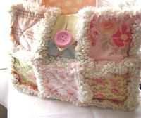 * This is so cute!! PDF Pattern & Tutorial for Rag Quilt Purse, Rag Quilt Bag PDF Sewing Pattern