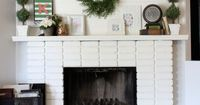 DIY Wood Planked Mantle Tutorial - Click for tutorial!