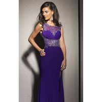 Beaded Sheer Gown Dresses by Clarisse 2583 - Bonny Evening Dresses Online