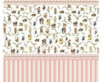 The Dolls House Emporium Victorian Nursery Wallpaper Victorian-style nursery wallpaper with stripes and border. Size: 430 x 600mm. Any accessories shown in the photo are not included. (Barcode EAN = 5035189310843). http://www.comparestoreprices.co...