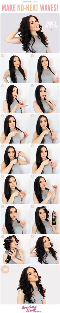 How to get heatless waves, love it, but why does she pout her lips in almost all of them?