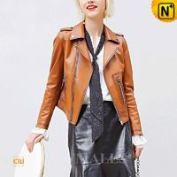 Custom Made | Women Leather Moto Jacket CW619107 | CWMALLS.COM