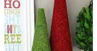 Glitter Trees - Fun to make Christmas decorations!