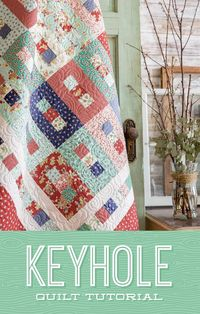 Unlock a simply gorgeous Keyhole Quilt in this free quilting tutorial with Jenny Doan! Learn how to sew this quilt that will be a wonderful gift or an added element of style to any home decor.