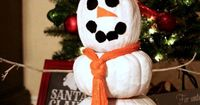 kids craft--pumpkin snowman