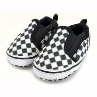 Checker Black & White Slip On Shoes