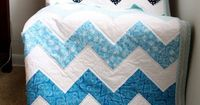 Chevron quilt. Really easy block pattern. I'd love to do one of these.