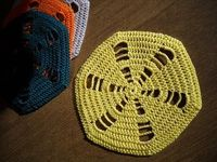 Crochet Galore: Six Sided Doily Coaster - October Doily of The Month free pattern