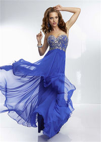Long Royal Sparkly Prom Gowns By Mori Lee 95077