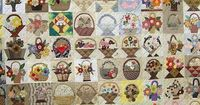 120+ Baskets! Each one different! Probably done like a friendship quilt with many women contributing a square.