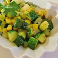 "Fresh Corn and Zucchini Saute | ""This is the perfect side to a summer BBQ."""