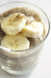 Banana Chia Pudding! Yum! Thus furthering my obsession with chia.