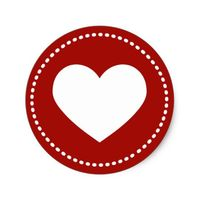 Valentine's Day Heart Classic Round Sticker