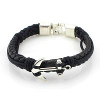 European Style Braided Leather Bracelet Fashion Pu Leather Alternative Alloy Buckle Bracelet R112.80