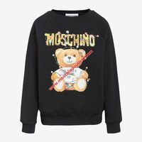 Moschino Christmas Teddy Womens Long Sleeves Sweater Black
