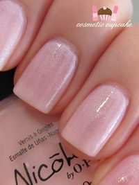 Nicole by OPI nail polish Kim-pletely in Love ~ a sheer light pink with subtle blue microglitter