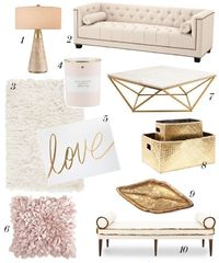 Let's admit it, we all love a bit of pink in our lives now and then! How about the whole living room in powder pink color palette? I personally love those color