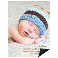 Lasting Introduction Vertical Photo -- Baby Announcement Magnets