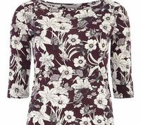 Dorothy Perkins Womens Petite exclusive 3/4 sleeve tee- Purple Petite exclusive plum butterfly printed tee, wearing length approx. 60cm 100% Cotton. Machine washable. http://www.comparestoreprices.co.uk//dorothy-perkins-womens-petite-exclusive-3-4-sle...