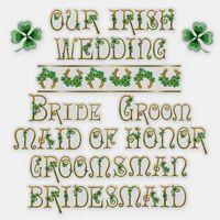 Irish Wedding Text Art Shamrock Vinyl Set Sticker