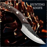 Chef Knife Forged Steel Hunting Outdoor Home Kitchen Tool ILS133.00