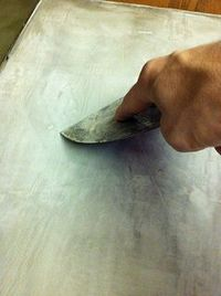 How to do thinset concrete over laminate counter tops. This is so cool!