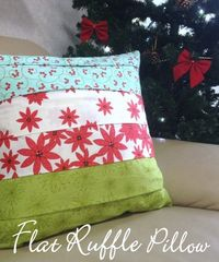 Ruffle cushion tutorial