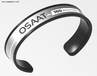 Osaat Sport provides achievement wristband to show marathon run completed by runner. This is the band that stands for the major milestone a marathon runner have achieved. As you completed 100 marathon races. It can be worn all day every day, when training...