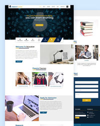 https://html.design/download/perfect-learn-education-template/ This Free Responsive Education Website Template helps you to create an attractive and informative website for school, colleges, course offering institutions, training institutions and other e...